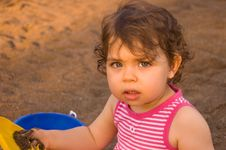 Free Cute Baby Girl Stock Photos - 21521713