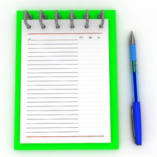 Free Pen On A Notebook Royalty Free Stock Images - 21522999