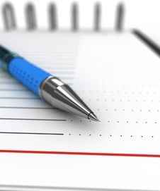 Free Pen On A Notebook Stock Image - 21523011