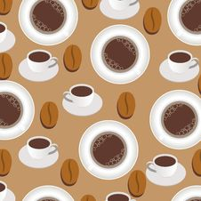 Free Coffee Background Seamless Pattern Stock Images - 21523734