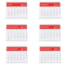 2012 Desk Calendar Royalty Free Stock Image