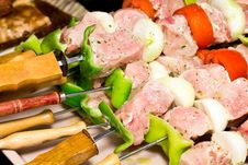 Free Raw Brochettes Stock Image - 21529111