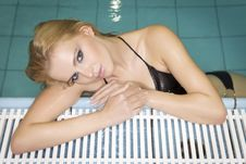 Free Beautiful Young Woman Standing In A Swimming Pool Royalty Free Stock Images - 21529139