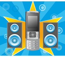 Free Sound Phone. Royalty Free Stock Photography - 21529177