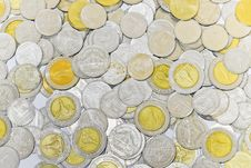 The Background Of The Coins Royalty Free Stock Photo