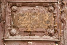 Free Ancient Wooden Door Fragment. Royalty Free Stock Image - 21530536
