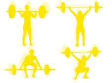 Free Lifting Weights Silhouette Royalty Free Stock Images - 21531789