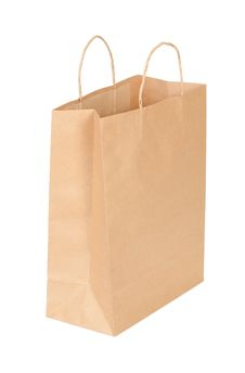 Free Shopping Paper Bag Isolated On White Stock Images - 21533604