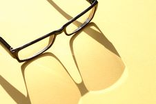 Free Spectacles With Shadow Royalty Free Stock Photography - 21534737