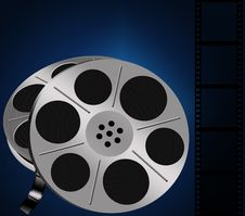 Free Two Film Reels Royalty Free Stock Image - 21536716