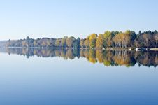 Free Fall Colors Reflected On A Lake Stock Image - 21537191