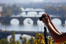 Free Taking Picture Of The Charles Bridge In Prague Royalty Free Stock Images - 21538939