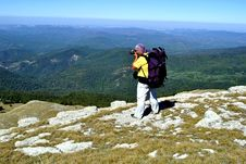 Free Hiker Photographer In Mountains Stock Photos - 21539453