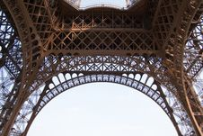 Free Eiffel Tower. Fragment. Paris Royalty Free Stock Photography - 21540097