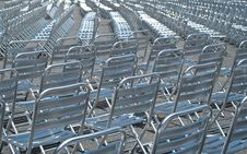 Empty Metal Chairs Royalty Free Stock Photos