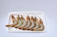 Free Fresh Shrimps On Foam Package Royalty Free Stock Photos - 21544848