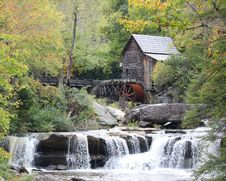 Free Grist Mill At Babcock State Park Royalty Free Stock Image - 21545076