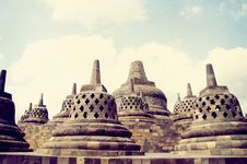 Free Borobudur Temple Royalty Free Stock Photography - 21545137