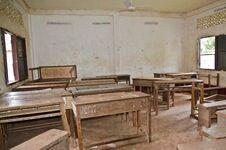 Forgotten Classroom Royalty Free Stock Image