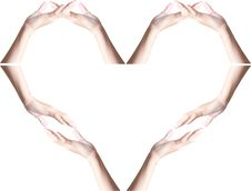 Free Hands Making Heart Shape Stock Photography - 21549212