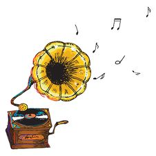 Free Gramophone Isolated Royalty Free Stock Images - 21549249