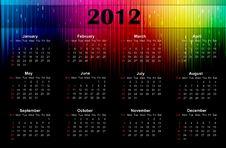 2012 Colorful Calendar Royalty Free Stock Photos
