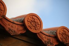 Free Asian Roof Tile Royalty Free Stock Photos - 21549848