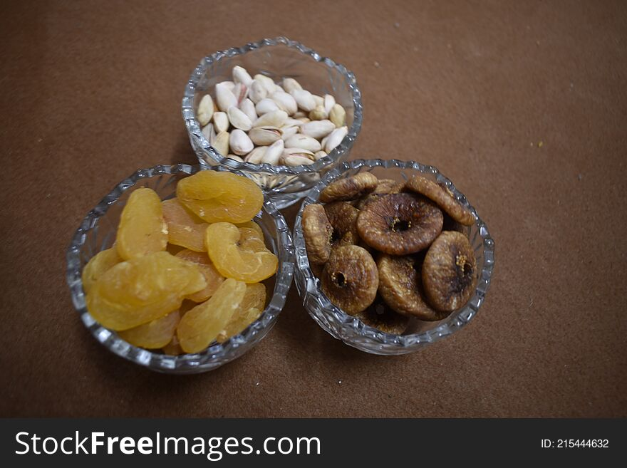 Luxurious dry fruits used in winter