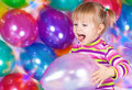 Free Girl With Balloons Stock Photo - 21553350