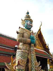 Free Guardian Statue At Wat Phra Kaew , Bangkok Stock Photos - 21550363