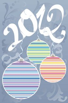 Free Colorful Decorative New Year Royalty Free Stock Image - 21553536