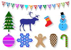 Free Christmas Stickers Royalty Free Stock Image - 21554236
