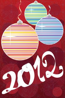 Free Colorful Decorative New Year Stock Image - 21554291