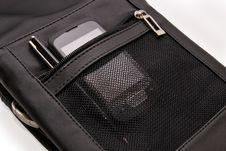 Free Men S Handbag And Smartphone Royalty Free Stock Image - 21555566