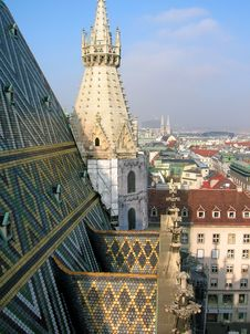 Free View From The Roof Of St. Stephen S Cathedral, Vie Royalty Free Stock Image - 21557606