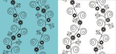 Free Vector Floral Pattern Royalty Free Stock Photography - 21558337