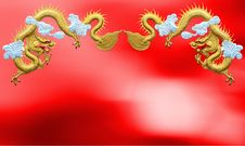 Two Golden Dragons Royalty Free Stock Photo