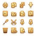 Free Document Web Icons, Set 1. Brown Series. Stock Photos - 21563453