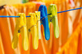 Free Washed Clothes Drying Outside Stock Image - 21563951