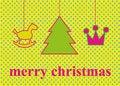 Free Christmas Tree With Ornaments, Xmas Card Stock Photos - 21567333