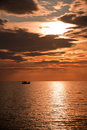 Free Dramatic Sunset Over The Sea Stock Photography - 21567652