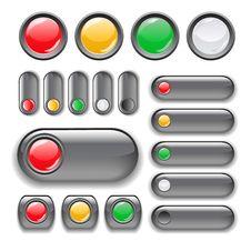 Free Button Set Royalty Free Stock Photo - 21560035