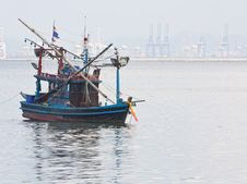 Free Fishing Boat In The Sea Stock Photography - 21560192
