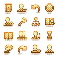 Free Users Contour Icons. Brown Series. Royalty Free Stock Image - 21563426