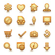 Free Basic Web Icons. Brown Series. Stock Photography - 21563452
