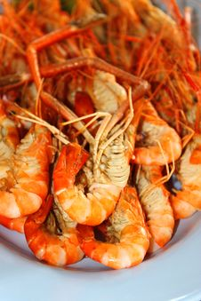 Grilled Shrimps Royalty Free Stock Photography