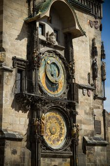Free The Ancient Astronomical Clock In Prague Stock Photography - 21564912