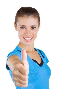 Free Beautiful Girl Showing A Thumb Up Royalty Free Stock Photos - 21565018