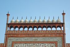 Free The Top Of Gate To Taj Mahal Royalty Free Stock Photo - 21565465