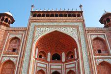 The Gate To Taj Mahal Royalty Free Stock Photo